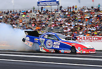 Jun 5, 2015; Englishtown, NJ, USA; NHRA funny car driver Robert Hight during qualifying for the Summernationals at Old Bridge Township Raceway Park. Mandatory Credit: Mark J. Rebilas-