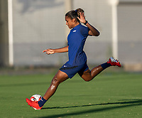 KASHIMA, JAPAN - AUGUST 4: Catarina Macario #19 of the USWNT takes a shot during a training session at the practice field on August 4, 2021 in Kashima, Japan.