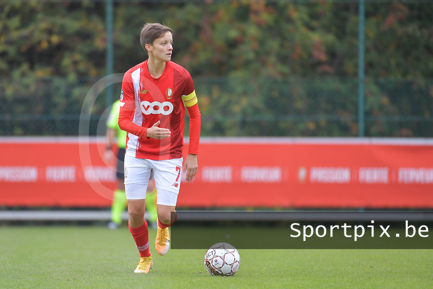 defender Maurane Marinucci (7 Standard) pictured during a female soccer game between Standard Femina de Liege and Dames SV Zulte Waregem on the fifth matchday of the 2020 - 2021 season of Belgian Scooore Womens Super League , saturday 17 th of October 2020  in Angleur , Belgium . PHOTO SPORTPIX.BE | SPP | STIJN AUDOOREN
