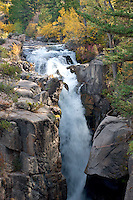 Shell Falls, Shell Creek<br />   in Shell Canyon<br /> Big Horn National Forest<br /> Big Horn Mountains, Wyoming