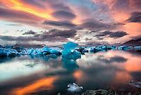Glacier Lagoon in Skaftafell National Park, Iceland