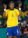 28.06.2010, Ellis Park Stadium, Johannesburg, RSA, FIFA WM 2010, Brazil (BRA) vs Chile. (CHI), im Bild Michel Bastos of Brazil during the 2010 FIFA World Cup South Africa. EXPA Pictures © 2010, PhotoCredit: EXPA/ Sportida/ Vid Ponikvar +++ Slovenia OUT +++