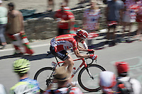 Tim Wellens (BEL/Lotto-Soudal) up the Col du Tourmalet (HC/2115m/17km/7.3%)<br /> <br /> st11: Pau - Cauterets (188km)<br /> 2015 Tour de France