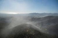 General view of the fire in Bedar, in Almeria, on August 26, 2012.  AFP PHOTO / Pedro ARMESTRE