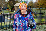 Josephine O'Shea enjoying her coffee in the Tralee town park on Saturday morning.