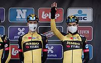 Wout van Aert (BEL/Jumbo-Visma) at the race start in Leuven<br /> <br /> 61st Brabantse Pijl 2021 (1.Pro)<br /> 1 day race from Leuven to Overijse (BEL/202km)<br /> <br /> ©kramon