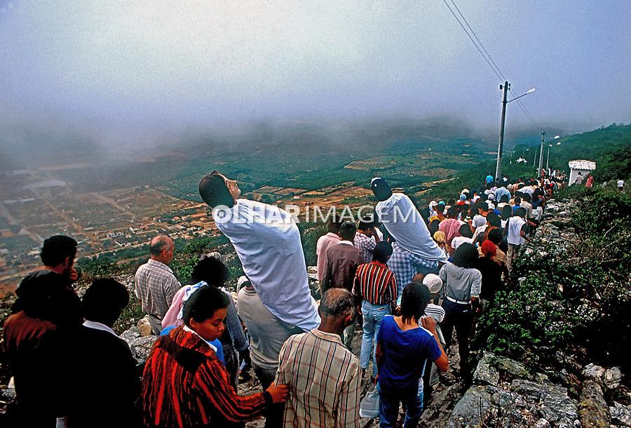 Procissão em Monte Santo. Bahia.  1985. Foto de Ricardo Malta.