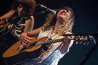 LES HAY BABIES and special Guest Lisa Leblanc perform at<br /> the  Festival en Chanson of Petite-Vallee in Gaspesia on July 2nd, 2014.<br /> <br /> Photo : Agence Quebec Presse  - Frederic Seguin