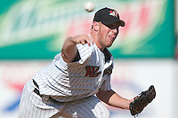 Winston-Salem starting pitcher Adam Russell fires the ball to the plate versus Frederick at Ernie Shore Field in Winston-Salem, NC, Thursday, June 15, 2006.  Winston-Salem defeated Frederick 1-0 in game 1 of a double-header.