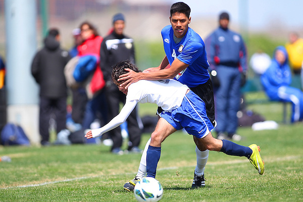 RICHARDSON, TX - MARCH 24: 2013 Dr Pepper Dallas Cup Alianza DE Futbol (CAS) v Prepa Tec (MEX) at University of Texas Dallas in Richardson, Texas on March 24, 2013