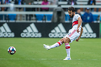 SAN JOSE, CA - MAY 18: Marcelo #2 of the Chicago Fire during a Major League Soccer (MLS) match between the San Jose Earthquakes and the Chicago Fire on May 18, 2019 at Avaya Stadium in San Jose, California.