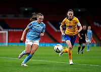 1st November 2020; Wembley Stadium, London, England; Womens FA Cup Final Football, Everton Womens versus Manchester City Womens; Danielle Turner of Everton Women and Georgia Stanway of Manchester City Women sprint for the ball