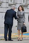 Spanish Queen Letizia attends at headquaerters of spanish AECIID on Madrid in Spain. March 7, 2017. (ALTERPHOTOS / Rodrigo Jimenez)