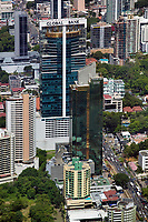 aerial photograph of Global Bank Tower, Panama City, Panama and adjacent buildings | fotografía aérea de la Torre Global Bank, Panamá