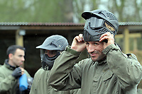 Pictured: Shefki Kuqi. Tuesday 25 January 2011<br /> Re: Swansea City FC footballers and staff have spend a morning at Teamforce Paintball in Llangyfelach near Swansea south Wales.