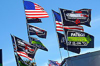28-31 January, 2016, Daytona Beach, Florida USA<br /> American, WeatherTech and Patron flags in the paddock.<br /> ©2016, F. Peirce Williams