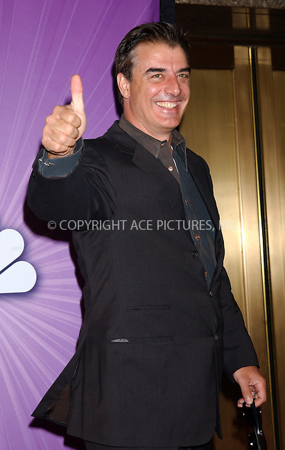 WWW.ACEPIXS.COM . . . . . ....NEW YORK, MAY 16, 2005....Chris Noth at the NBC Primetime Preview red carpet arrivals for Upfront Week held at Radio City Music Hall.....Please byline: KRISTIN CALLAHAN - ACE PICTURES.. . . . . . ..Ace Pictures, Inc:  ..Craig Ashby (212) 243-8787..e-mail: picturedesk@acepixs.com..web: http://www.acepixs.com
