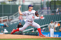 Reading Fightin Phils relief pitcher Reinier Roibal (50) during a game against the New Hampshire Fisher Cats on May 30, 2016 at Northeast Delta Dental Stadium in Manchester, New Hampshire.  New Hampshire defeated Reading 9-1.  (Mike Janes/Four Seam Images)