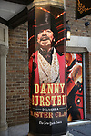"""Theatre Marquee with Danny Burstein for """"Moulin Rouge!"""" The Broadway Musical at the Al Hirschfeld Theatre on July 9, 2019 in New York City."""