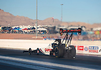 Nov 3, 2019; Las Vegas, NV, USA; NHRA top fuel driver Steve Torrence during the Dodge Nationals at The Strip at Las Vegas Motor Speedway. Mandatory Credit: Mark J. Rebilas-USA TODAY Sports