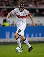 13.01.2018,  Football 1.Liga 2017/2018, 18. match day, VfB Stuttgart - Hertha BSC Berlin, in Mercedes-Benz-Arena Stuttgart. Christian Gentner (Stuttgart) . *** Local Caption *** © pixathlon<br /> <br /> +++ NED + SUI out !!! +++<br /> Contact: +49-40-22 63 02 60 , info@pixathlon.de
