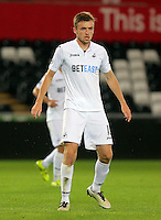 Pictured: Ryan Blair of Swansea Friday 26 August 2016<br /> Re: Swansea City FC v West Ham United, Division 2, Premier League 2, at the Liberty Stadium, Swansea, Wales, UK