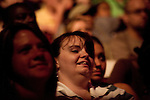 """Sunday, June 24, Raleigh, North Carolina..California evangelist Greg Laurie, brought his """"Harvest Crusade"""" to the RBC Center in Raleigh, NC for 3 days of music. prayer and Christian evangelism. Laurie brought together 200 local churches to sponsor the event which used 3000 volunteers and hopes to convert many newcomers to his version of born again Christianity.. Faces in the crowd."""