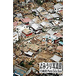 January 17th, 2011 : Awaji Island, Japan - There are wooden houses messed up due to the January 17 earthquake. This town was left in ruins by the disaster and became deserted. (Photo by Masato Uchida)