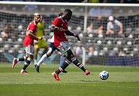 18th July 2021; Pride Park, Derby, East Midlands; Pre Season Friendly Football, Derby County versus Manchester United;  Axel Tuanzebe of Manchester United passes the ball right