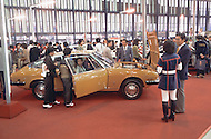 October, 1980. Tokyo, Japan. This Tokyo automobile show is a big event and a celebration of many types of cars.
