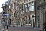 Buildings along the Spaarne River, Haarlem, Holland, Netherlands.