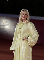 """Danish actress Helene Reingaard Neumann poses on the red carpet for the screening of the film """"Druk"""" during the 15th Rome Film Festival (Festa del Cinema di Roma) at the Auditorium Parco della Musica in Rome on October 20, 2020.<br /> UPDATE IMAGES PRESS/Isabella Bonotto"""