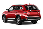 Car pictures of rear three quarter view of a 2018 Mitsubishi Outlander GT 4WD 5 Door SUV angular rear