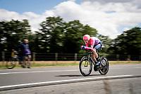 Tejay van Garderen (USA/EF Education First)<br /> <br /> Stage 4 (ITT): Roanne to Roanne (26.1km)<br /> 71st Critérium du Dauphiné 2019 (2.UWT)<br /> <br /> ©kramon
