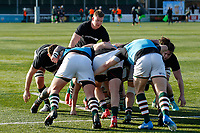 Ealing Trailfinders RFC warming up during the Championship Cup Quarter Final match between Ealing Trailfinders and Nottingham Rugby at Castle Bar , West Ealing , England  on 2 February 2019. Photo by Carlton Myrie / PRiME Media Images.