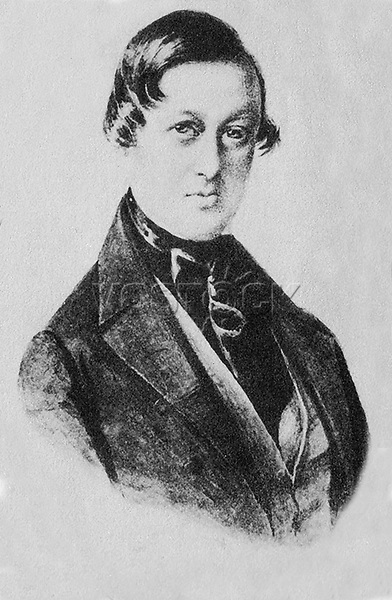 """Portrait of Astolphe-Louis-Leonor, Marquis de Custine (1790—1857) — the french aristocrat and monarchist, writer, traveler, gained worldwide fame by publishing his notes on Russia - """"Russia in 1839"""" - which he visited in 1839."""