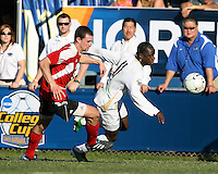 of the University of Akron of the University of Louisville during the 2010 College Cup final at Harder Stadium, on December 12 2010, in Santa Barbara, California.Akron champions, 1-0.