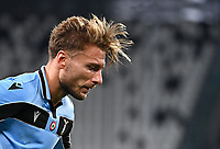 Calcio, Serie A: Juventus - Lazio, Allianz Stadium, July 20, 2020.<br /> Lazio's Ciro Immobile reacts during the Italian Serie A football match between Juventus and Lazio at the Allianz stadium in Turin, July 20, 2020.<br /> UPDATE IMAGES PRESS/Isabella Bonotto