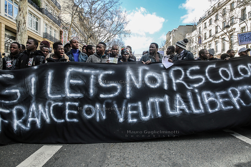 Manifestazione per il clima Manifestazione di solidarietà sans papier insieme alla manifestazione per il clima
