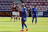 5th September 2020; PTS Academy Stadium, Northampton, East Midlands, England; English Football League Cup, Carabao Cup, Northampton Town versus Cardiff City; Harry Smith of Northampton Town celebrates with Luka Racic as he scores for 1-0 in minute 33