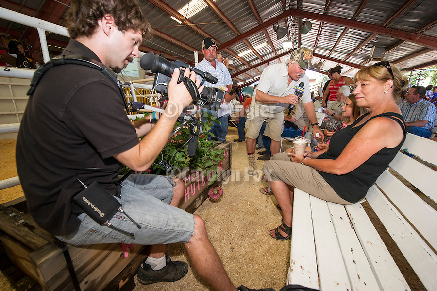 74th Amador County Fair, Plymouth, Calif...TSPN interview with a girl and a spotted chicken at the Junior Livestock Auction