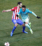 Atletico de Madrid's Juanfran Torres (l) and FC Barcelona's Neymar Santos Jr during Spanish Kings Cup semifinal 1st leg match. February 01,2017. (ALTERPHOTOS/Acero)