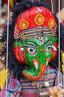 Bhaktapur, Nepal.  Hindu God Ganesh  as a Puppet.
