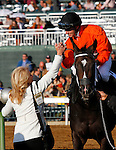 October 17, 2015:  Sarah Sis and Florent Geroux win the 17th running of the Lexus Raven Run Grade 2 $250,000 at Keeneland for trainer Ingrid Mason and owner Joe Ragsdale.   Candice Chavez/ESW/CSM