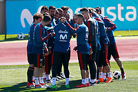 The players of the Spanish soccer team joke with Jordi Alba on the occasion of his birthday during training session. March 21,2018.(ALTERPHOTOS/Acero) /NortePhoto.com NORTEPHOTOMEXICO