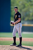 Pittsburgh Pirates pitcher Scooter Hightower (31) during a minor league Spring Training game against the Atlanta Braves on March 13, 2018 at Pirate City in Bradenton, Florida.  (Mike Janes/Four Seam Images)