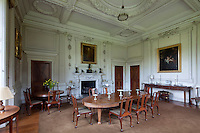 "The ""Wrenaissance' dining room, an homage to England's foremost seventeenth century architect, Christopher Wren"
