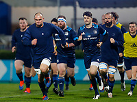 16th November 2020; RDS Arena, Dublin, Leinster, Ireland; Guinness Pro 14 Rugby, Leinster versus Edinburgh; Rhys Ruddock (c) of Leinster leads the squad on a run around the pitch prior to kickoff