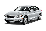 2016 BMW 3 Series 328i 4 Door Sedan Angular Front stock photos of front three quarter view