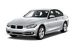 2016 BMW 3 Series 328i 4 Door Sedan Angular Front stock photos of front three quarter view